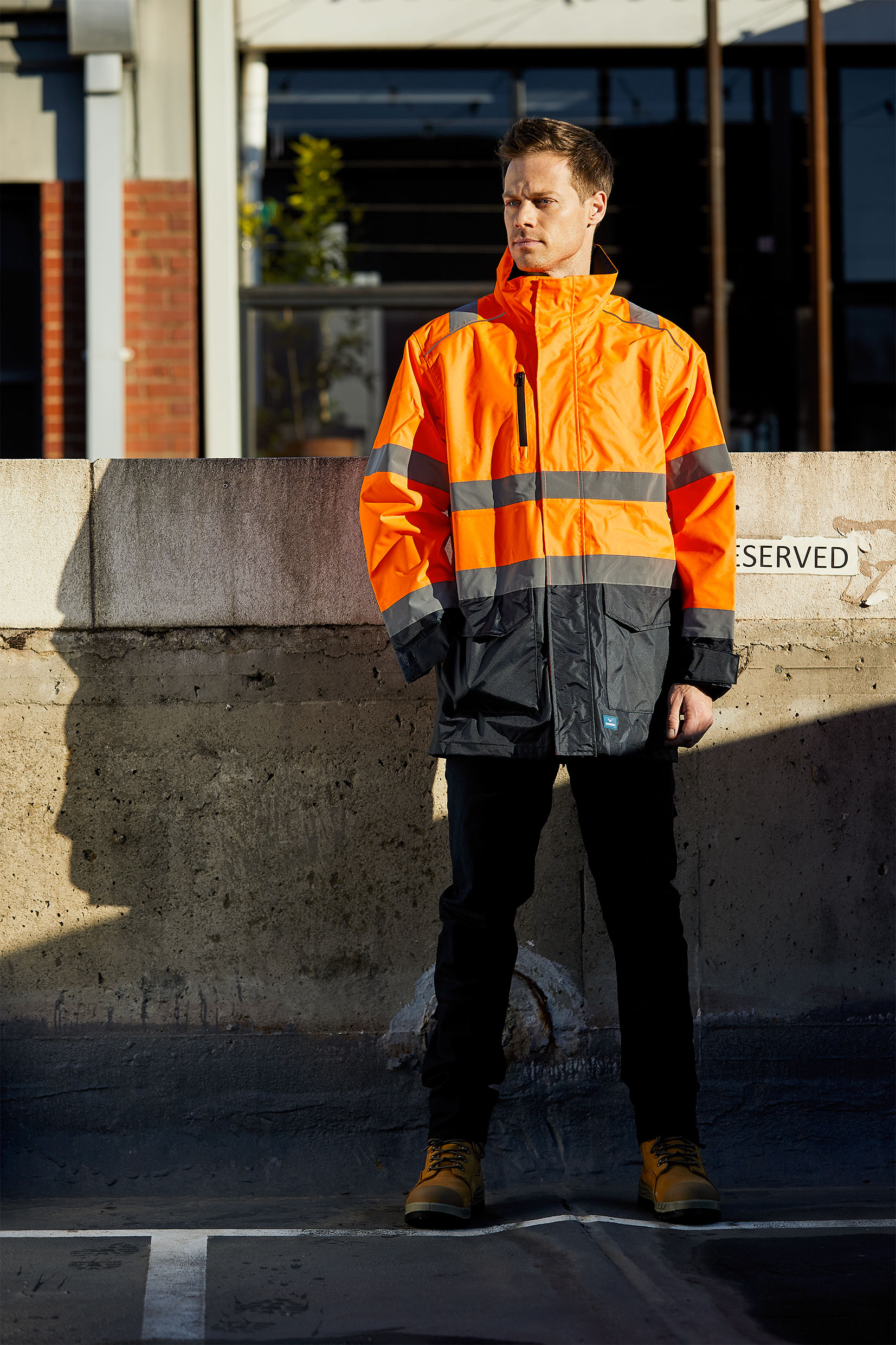 ULTIMATE-JACKET-8256-FLUORO-ORANGE-NAVY