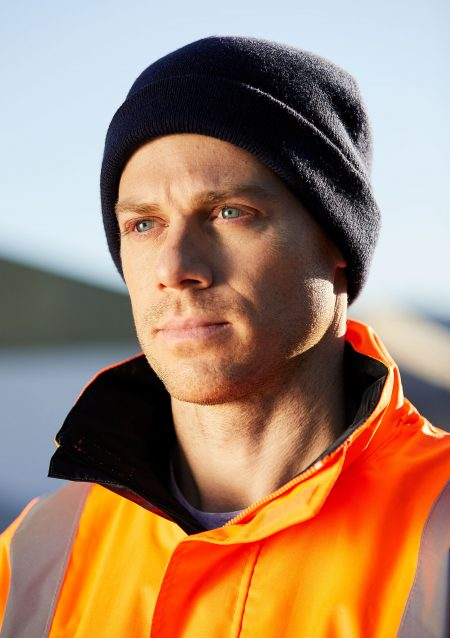 WATCHMAN-ADULTS-BEANIE-36005-400-NAVY+SENTINEL-JACKET-8485-FLUORO-ORANGE-NAVY