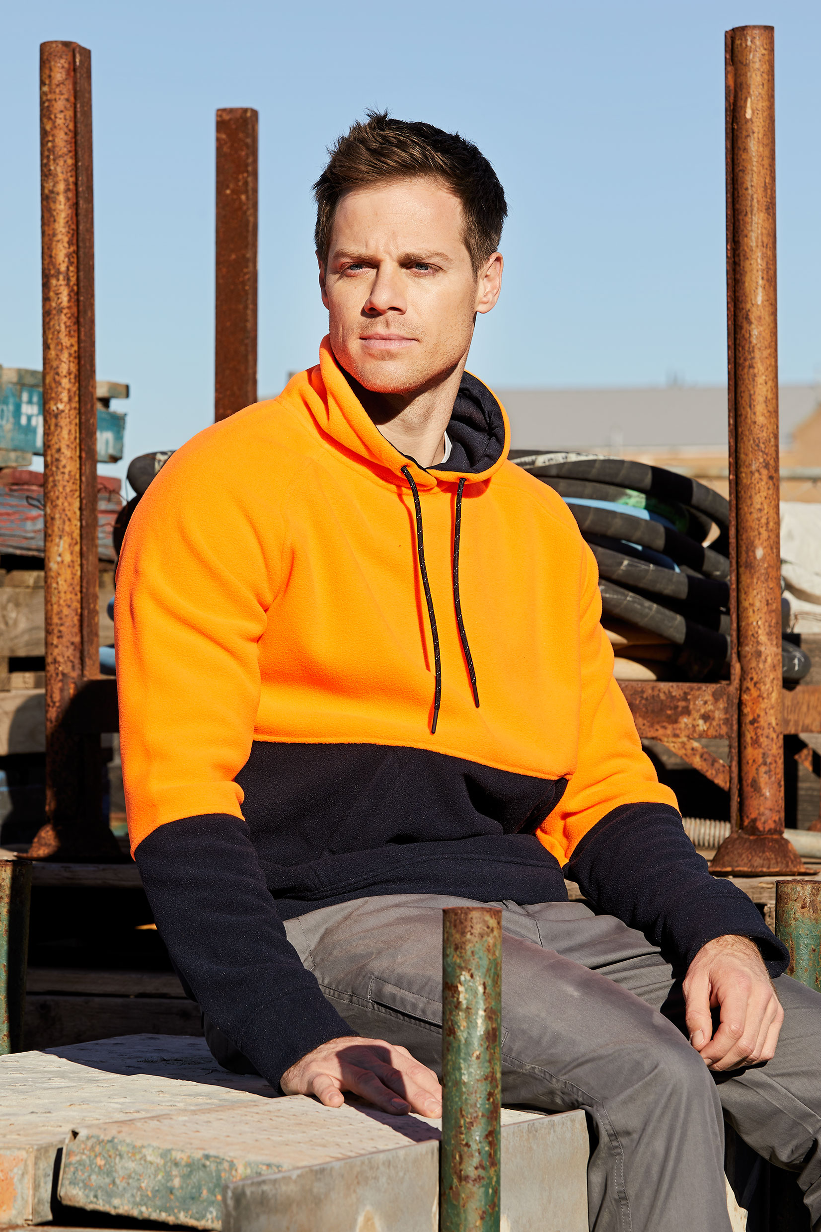 CHAPPELL-PULLOVER-5229-FLUORO-ORANGE-NAVY