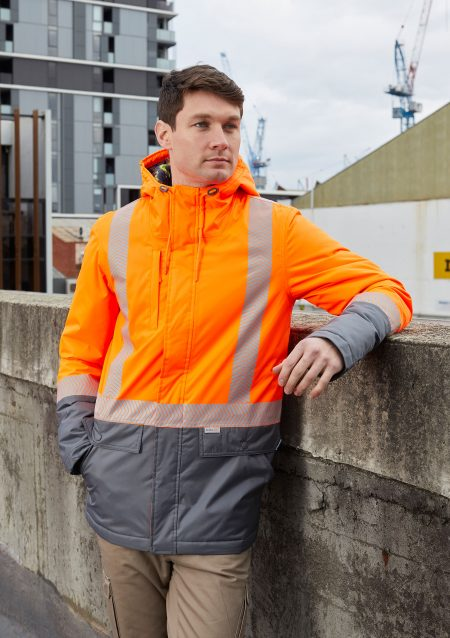HARVEY-PARKA-JACKET-FLUORO-8619-FLUORO-ORANGE-CHARCOAL-(3)_V2